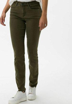 SHAKIRA - Slim fit jeans - dark olive