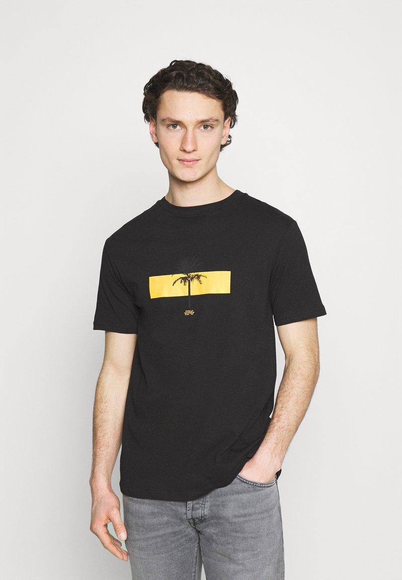 274 - PALM BLOCK TEE - Print T-shirt - black