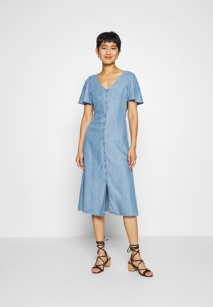 MIDI DRESS - Denim dress - light wash