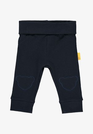 STEIFF COLLECTION JOGGINGHOSE MIT TEDDYBÄRFÖRMIGEN KNIESCHONERN - Tracksuit bottoms - black