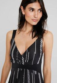 Anna Field - Maxiklänning - black/white - 4