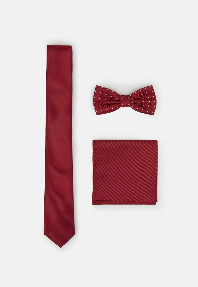 Pier One - SET - Pocket square - bordeaux