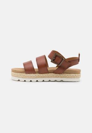 GABBIE - Platform sandals - cognac