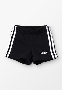 adidas Performance - GIRLS ESSENTIALS 3STRIPES SPORT 1/4 SHORTS - Korte broeken - black/white - 0