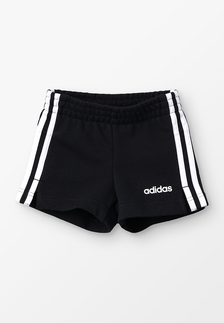 adidas Performance - GIRLS ESSENTIALS 3STRIPES SPORT 1/4 SHORTS - Korte broeken - black/white