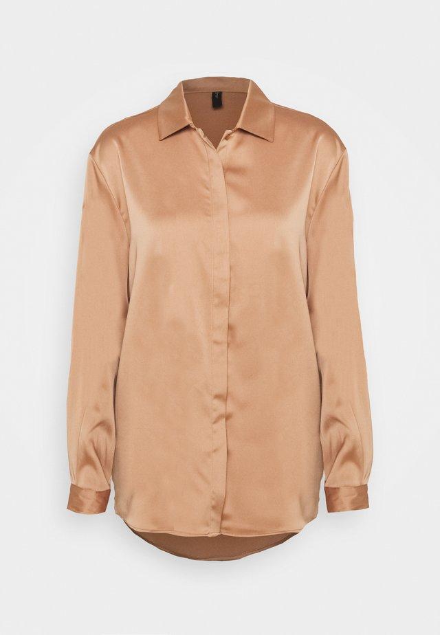 YASTERESA LONG - Button-down blouse - tawny brown
