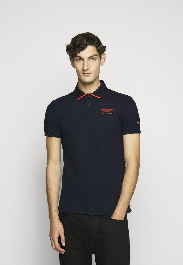 TAPE SHOULDER - Poloshirt - navy
