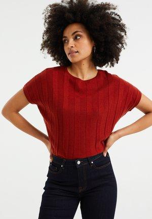 MET VLEERMUISMOUWEN - Print T-shirt - vintage red