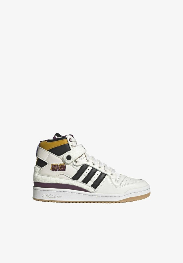 FORUM 84 HI GIRLS ARE AWESOME ORIGINALS SHOES HIGH - Sneakers hoog - chalk white/core black/purple beauty