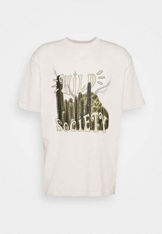 CODY TEE UNISEX - Print T-shirt - coconut milk