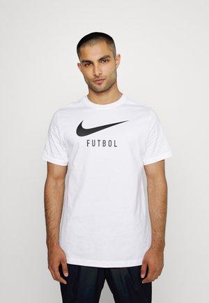 FOOTBALL SOCCER TEE - Print T-shirt - white/black