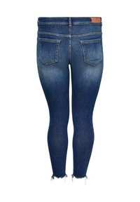 ONLY Carmakoma - CURVY CARWILLY REG ANKLE DESTROYED - Jeans Skinny Fit - dark blue denim - 1