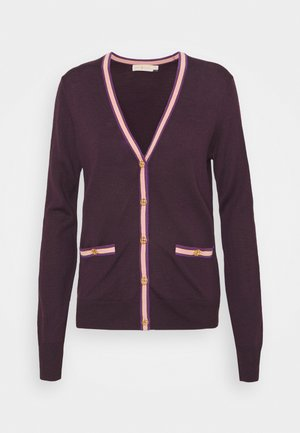 COLOR BLOCK MADELINE CARDIGAN - Kardigan - festive dark purple