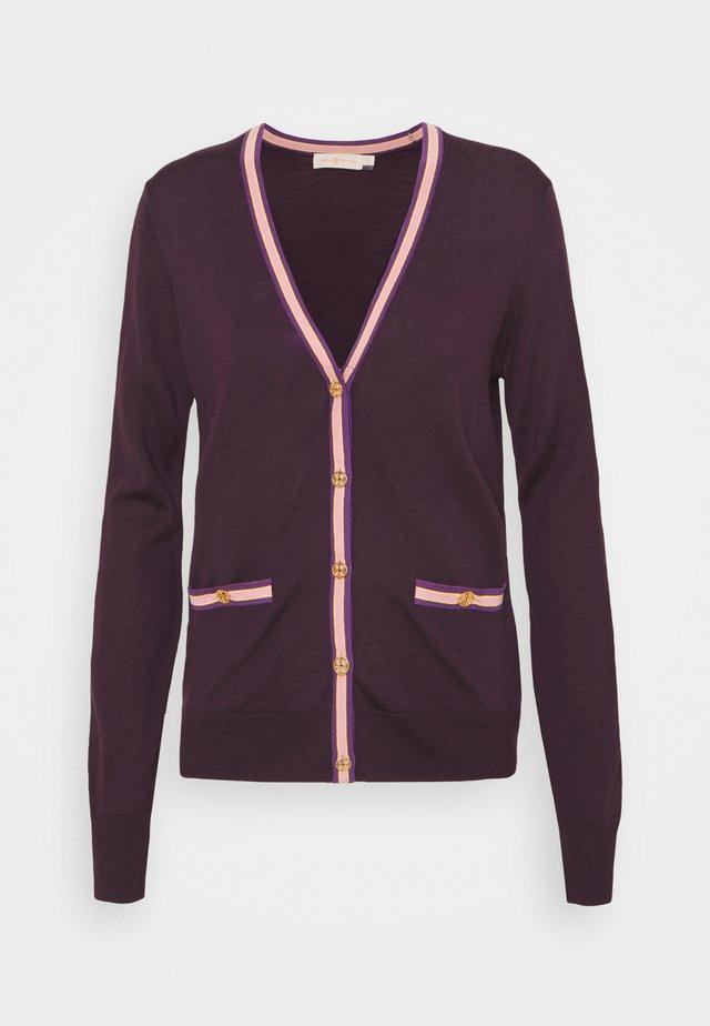 COLORBLOCK MADELINE CARDIGAN - Vest - festive dark purple/festive purple