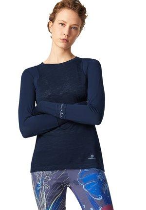 SAMIRA - Long sleeved top - navy-blau