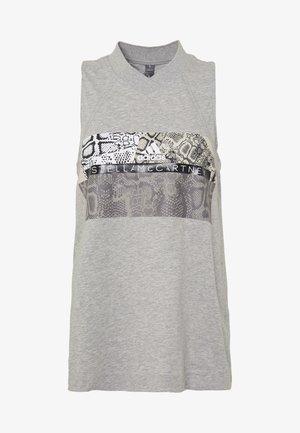 GRAPHIC TANK - Top - grey/white