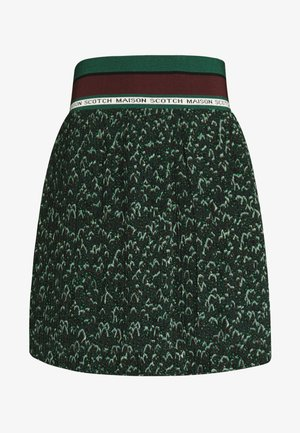 PLEATED SKIRT WITH RIBBED WAISTBAND - Áčková sukně - combo