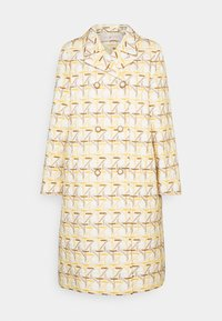 Tory Burch - EMBROIDERED PEACOAT - Classic coat - caning ivory/sunny day/classic caramel - 0