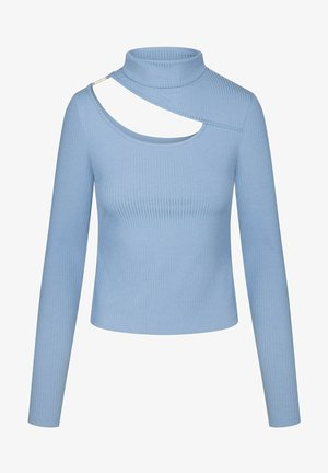 MIT CUT-OUT - Long sleeved top - ultramarinblau