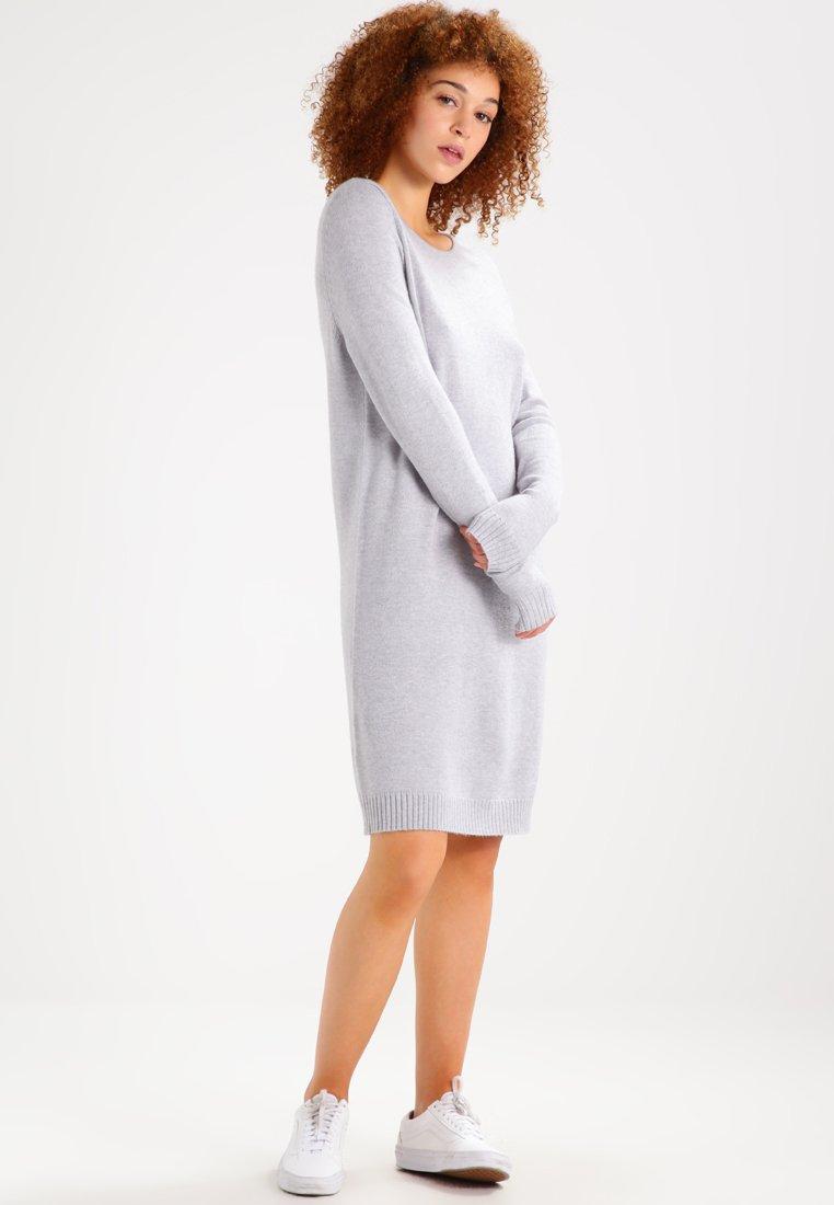 Vila - Strikket kjole - light grey melange