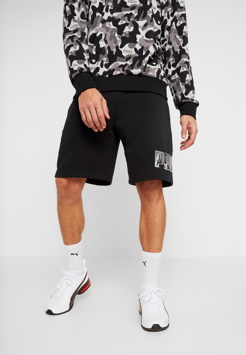 Puma - REBEL CAMO SHORTS - Short de sport - puma black