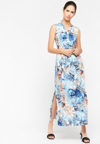 LolaLiza - FLORAL AND LEOPARD PRINT - Maxi dress - light blue - 1