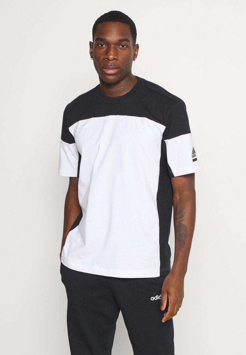 adidas Performance - ZNE TEE - Camiseta estampada - white/black