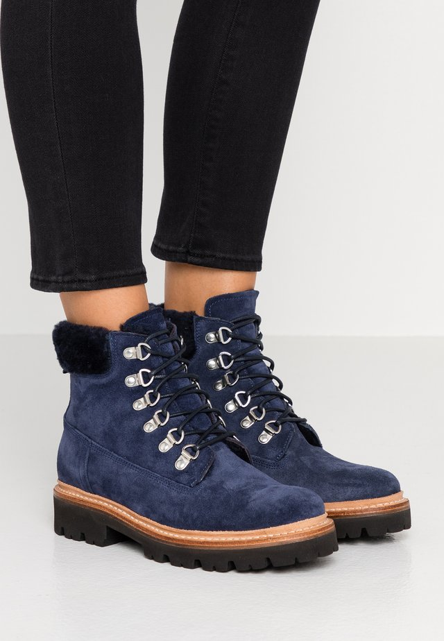 BROOKE - Lace-up ankle boots - peacoat navy