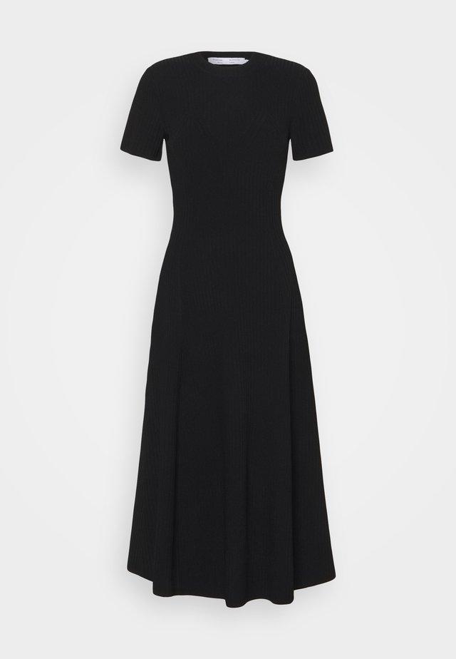 CUT OUT BACK KNIT DRESS - Jumper dress - black