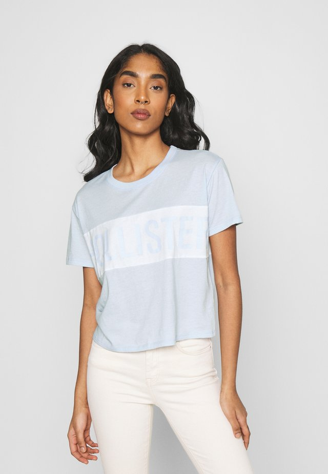Print T-shirt - xenon blue