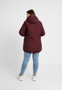 Ragwear Plus - JANE COAT - Parkatakki - wine red - 2