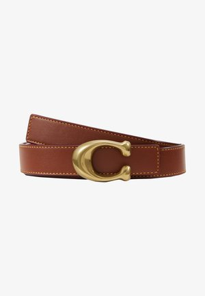 SCULPTED REVERSIBLE BELT - Bælter - saddle red
