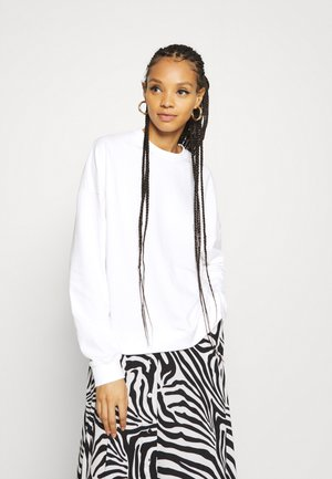 BASIC OVERSIZE SWEATSHIRT - Collegepaita - white