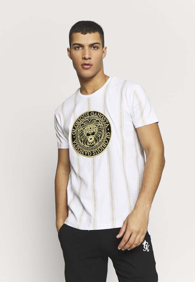 DORIAN - Camiseta estampada - white
