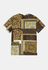 Versace - PATCHWORK HERITAGE UNISEX - Print T-shirt - gold/brown/white - 1