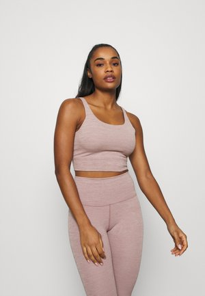 YOGA LUXE CROP TANK - Sports shirt - smokey mauve/heather/desert dust