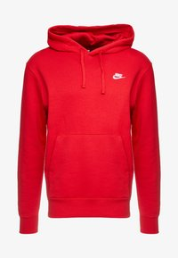 Nike Sportswear - CLUB HOODIE - Bluza z kapturem - university red/white - 4