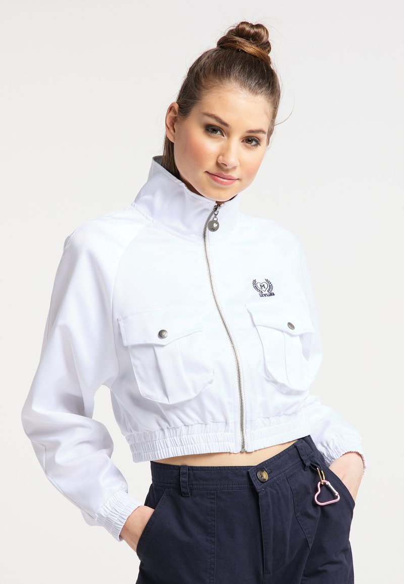 myMo - CROPPED - Light jacket - weiss