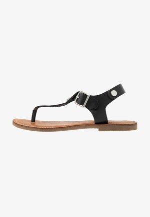 TALLY - Sandály s odděleným palcem - black