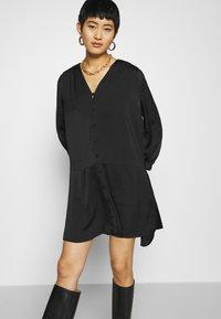 Samsøe Samsøe - JETTA SHORT DRESS - Day dress - black - 3