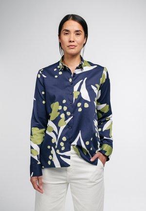 MODERN CLASSIC - Button-down blouse - blau/grün