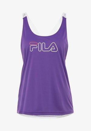 BELLA LOOSE TANK - Linne - tilandsia purple/bright white/ight grey melange bros