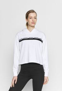 Puma - AMPLIFIED CROPPED HOODIE  - Mikina skapucí - white - 0