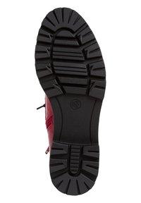 Jana - STIEFELETTE - Platform ankle boots - red patent - 4