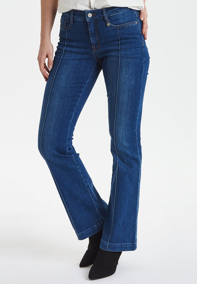 Flared jeans - crown blue