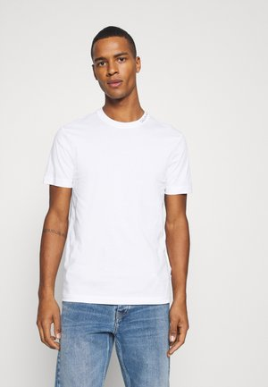 MINI NECK LOGO - T-paita - white