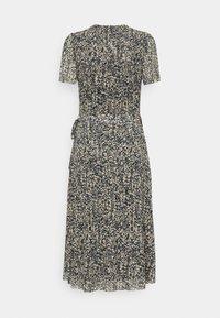 Soaked in Luxury - LOURDES WRAP DRESS - Day dress - beige - 4