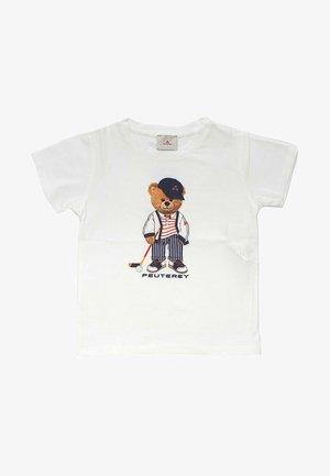 CON ORSO - T-shirt print - bianco