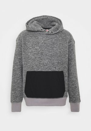 HOODIE - Huppari - mottled grey/black