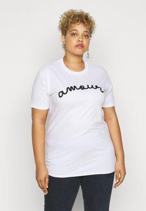 AMOUR GRAPHIC SLOGAN - Print T-shirt - white